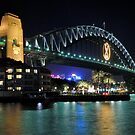 Sydney Harbour Bridge @ Night  6 - 1 - 2008 by DavidIori