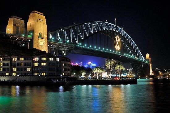 Sydney Harbour Bridge @ Night  6 - 1 - 2008 by DavidIori