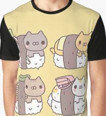 Camiseta gráfica Sushi Cats