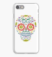 Sugar Skull SF multi 2 - on white iPhone Case/Skin