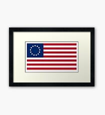 AMERICA, Betsy Ross, flag, Revolution, Stars and Stripes, Star Spangled Banner, America, American, USA, Americana Framed Print