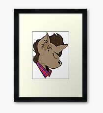 Butch Unicorn Framed Print