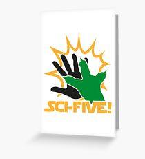 Sci-Five - Yoda Greeting Card