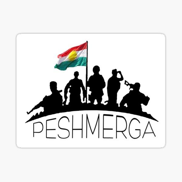 Peshmerga, Kurdistan-Aufkleber Sticker