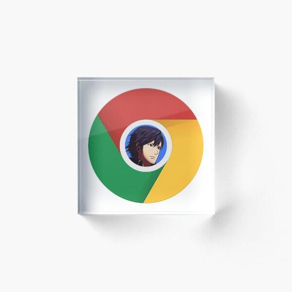 Google Chrom Acrylic Block