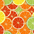 pattern with different slice citruses by kostochka