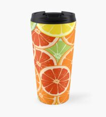 pattern with different slice citruses Travel Mug