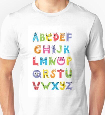 Alphabet Monsters poster T-Shirt