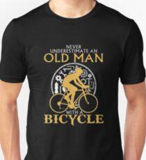 Old Man Bicycle Unisex T-Shirt