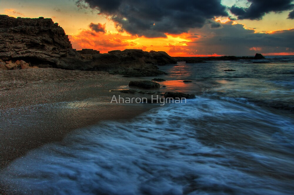ceaserea sunset by Aharon Hyman