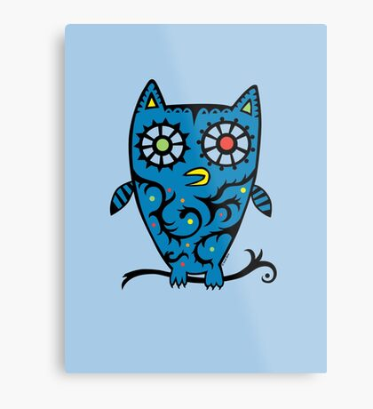 Tattoo Owl Metal Print