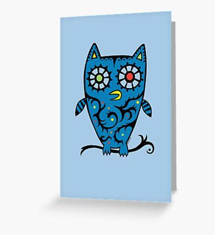 Tattoo Owl Greeting Card