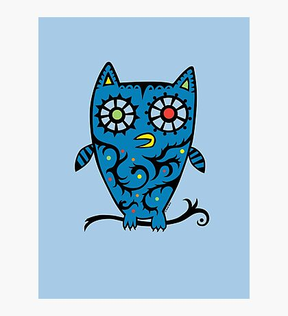 Tattoo Owl Photographic Print