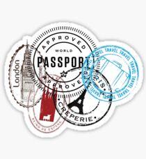 Travel Stamps Sticker