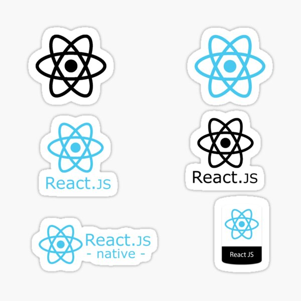 react js sticker set Sticker