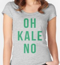 OH KALE NO Women's Fitted Scoop T-Shirt