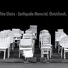185 empty white chairs - Earthquake Memorial, Christchurch, New Zealand. by Alex Preiss