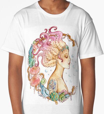 Octopus Mermaid Long T-Shirt