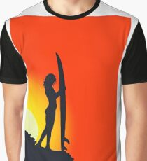 surf girl Graphic T-Shirt