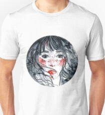 Watercolor girl portrait T-Shirt