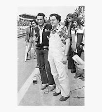 exclusif Yves Mourousi et Coluche au Mans 1975  par okaio Photographic Print
