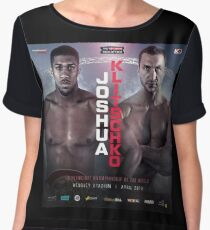 ANTHONY JOSHUA VS WLADIMIR KLITSCHKO OFFICIAL POSTER Chiffon Top