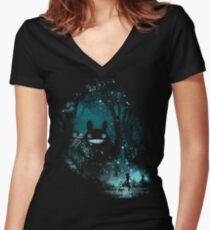 the big friend Women's Fitted V-Neck T-Shirt