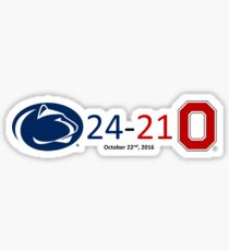 24-21 Penn State Ohio State 2016 Score Sticker