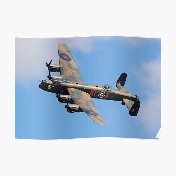 Avro Lancaster bomber night departure framed picture
