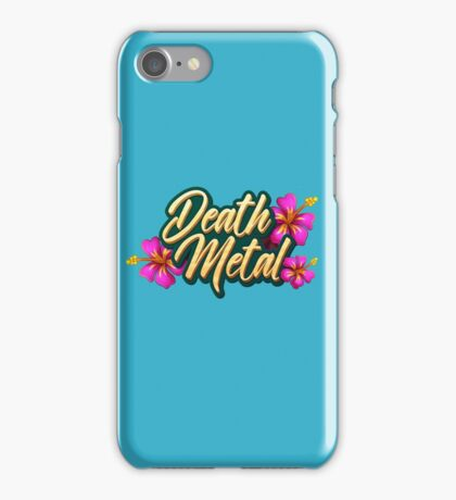 Death Metal Hawaii iPhone Case/Skin