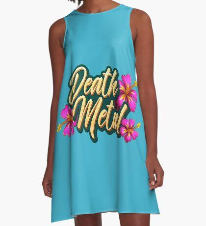 Death Metal Hawaii A-Line Dress