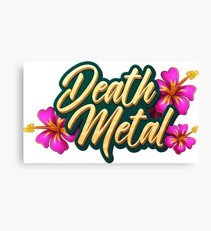 Death Metal Hawaii Canvas Print
