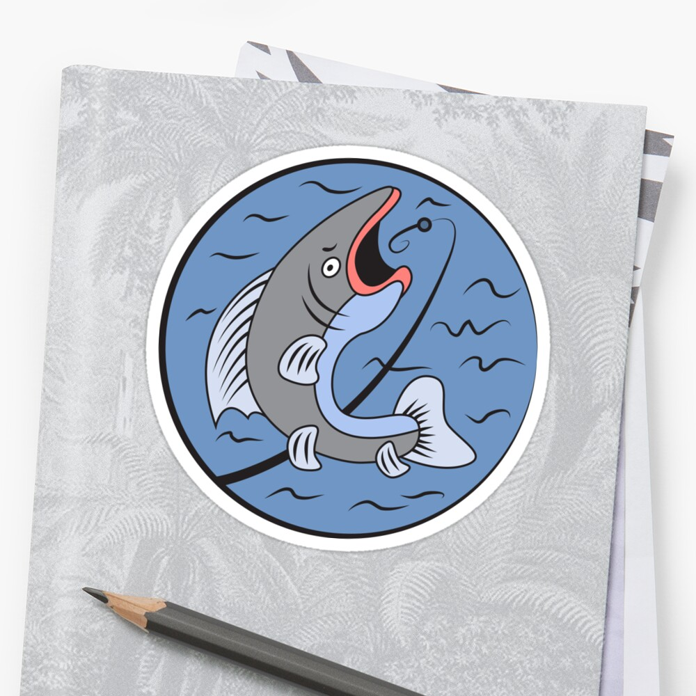 Big Fish Catch Stickers By Amoromniavincit Redbubble