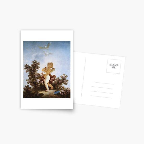 Jean-Honore Fragonard - Love The Sentinel 1790 Postcard