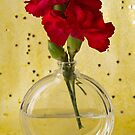 Red Carnations Still Life by Sandra Foster