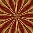 Maroon Golden Tinfoil Radiating Streaks by AuntieShoe