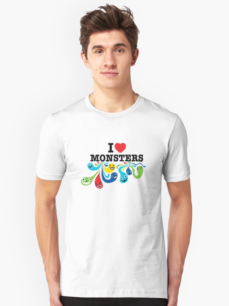 I Heart Monsters Unisex T-Shirt Front