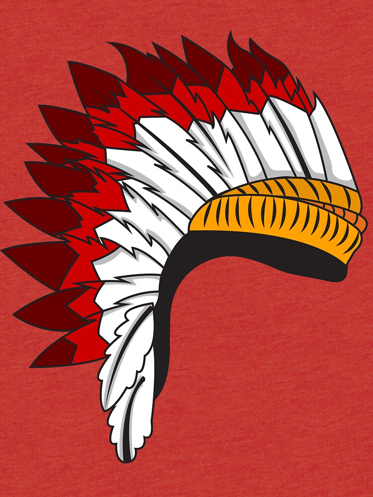 Indian Chief hat | Tri-blend T-Shirt