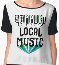 Support Local Music Women's Chiffon Top