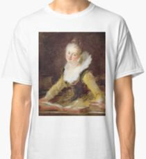 Jean-Honore Fragonard - The Study, Or The Song Classic T-Shirt