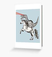 Raptor & Unicorn Greeting Card