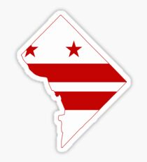DC Flag Map Sticker