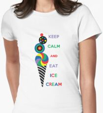 Keep Calm and Eat Ice Cream Women's Fitted T-Shirt