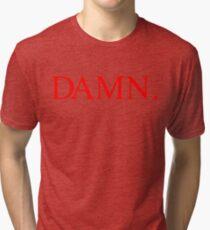 Kendrick Lamar DAMN. Red Tri-blend T-Shirt