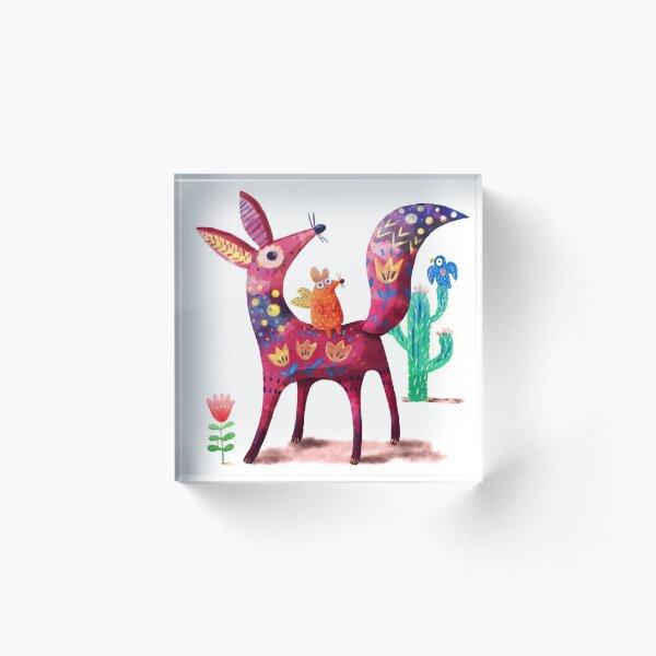 Desert Fox Acrylic Block