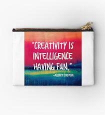Bolso de mano La creatividad es la inteligencia divirtiéndose