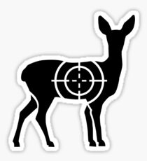 Doe crosshairs hunter Sticker