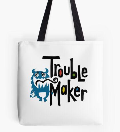 Trouble Maker born bad - earth Tote Bag