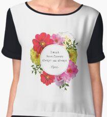 Beautiful Quote Monet - Flower Frame Chiffon Top
