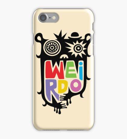 Big Weirdo - beige iPhone Case/Skin